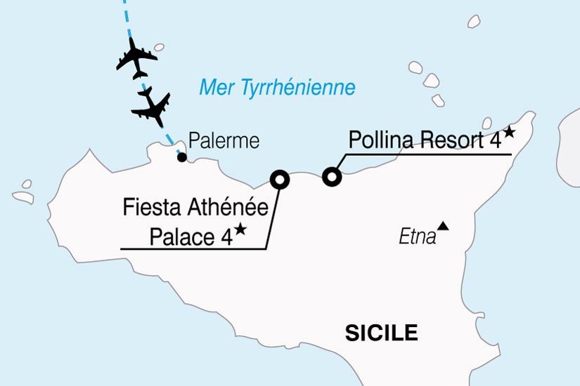carte Sicile Hotels 233527