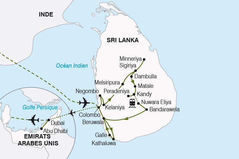 carte Sri Lanka Emirats Arabes Unis de l Ocean Indien au Golfe Persique SH20_339 275081