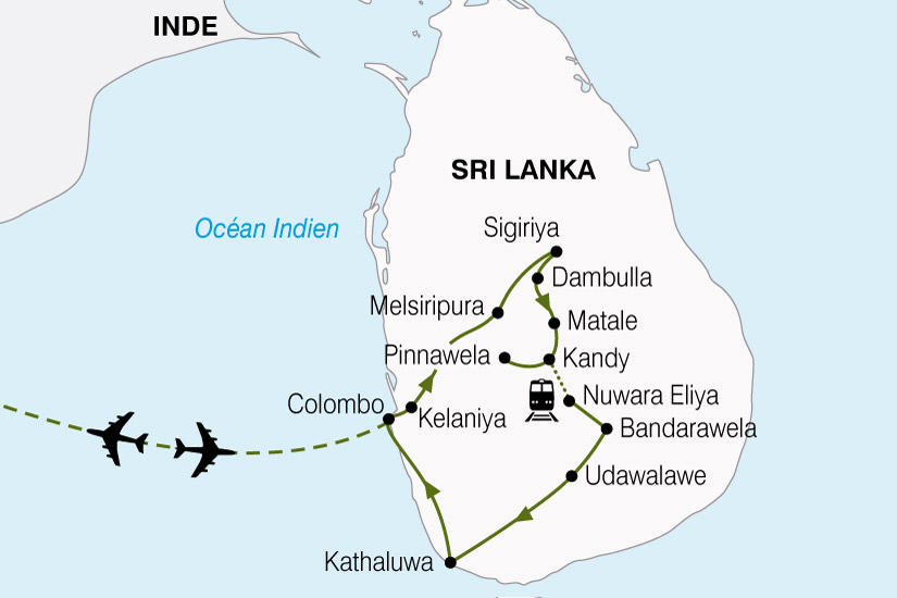 carte Sri Lanka Ile Aux Joyaux 103638