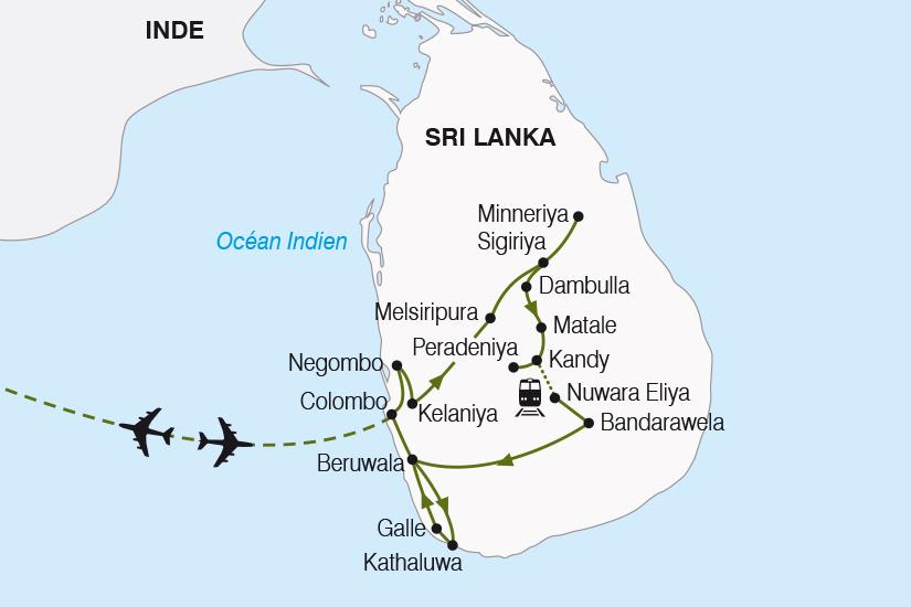 carte Sri Lanka l ile aux joyaux SH19 20_319 181299