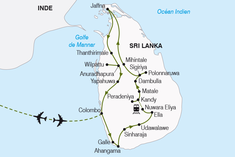 carte Sri Lanka merveilles de Ceylan SH20_339 764887