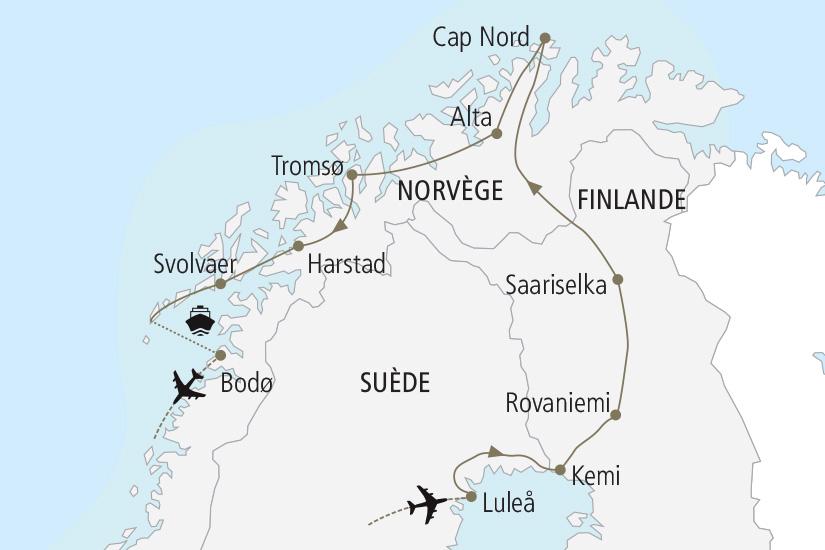 carte Suede Finlande Norvege Magies du Nord Nordiska 19_285 403554