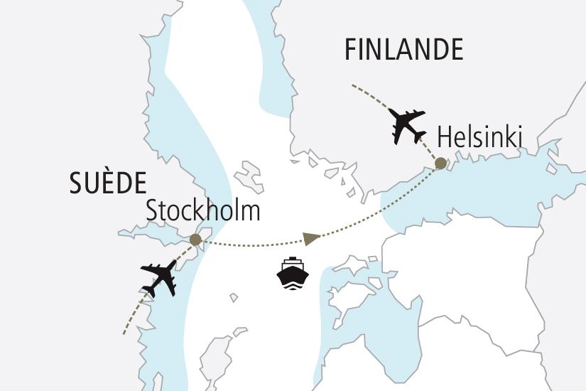 carte Suede Finlande Nouvel An en mer Baltique NDK18 19_259 713547