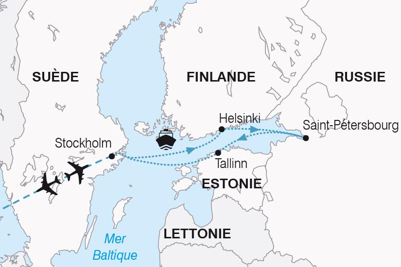 carte Suede Finlande Russie Estonie Symphonie Balte SH20_339 246366