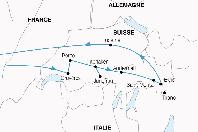 carte Suisse Glaciers Trains Montagne 250961