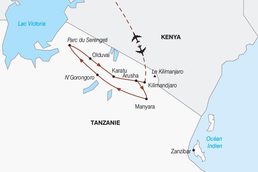 carte Tanzanie Tanzanie authentique 2019_292 695434