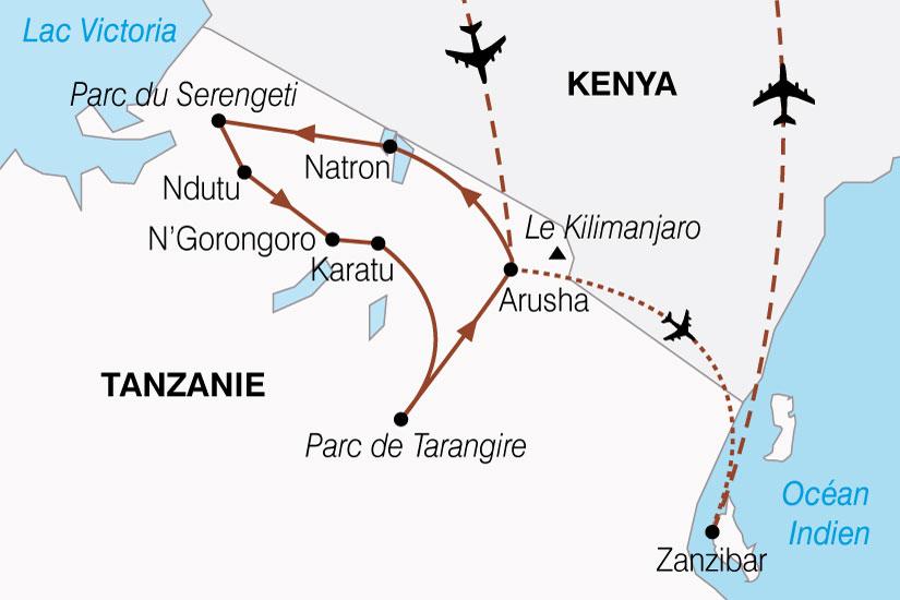 carte Tanzanie Zanzibar Splendeurs 378784