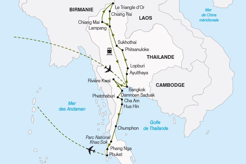 carte Thailande La Thailande du Nord au Sud SH19 20_319 668703