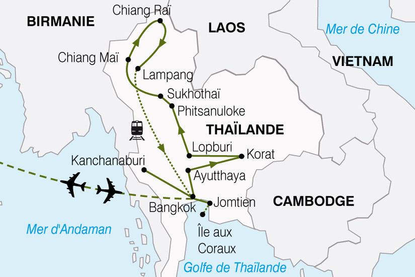 carte Thailande Panoramas Thailandais 495519