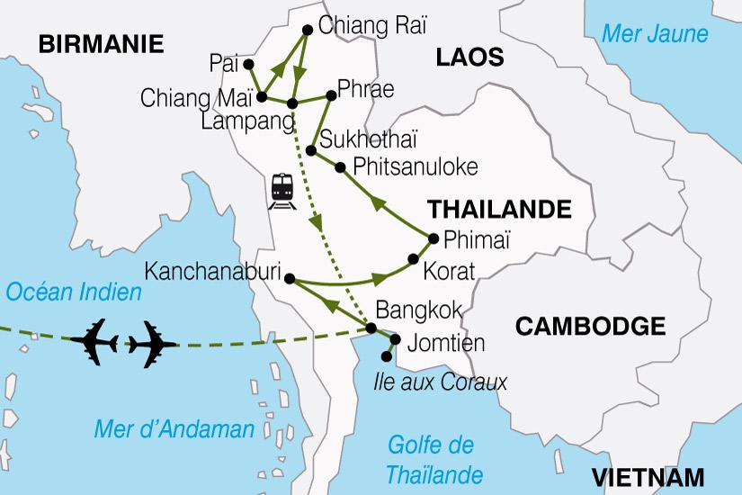 carte Thailande Pays Qui Sourit 782000