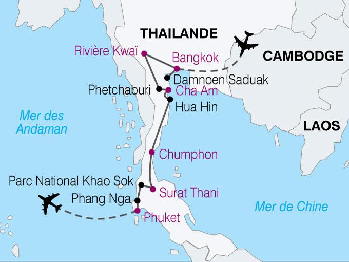 Cambodge Carte Ville
