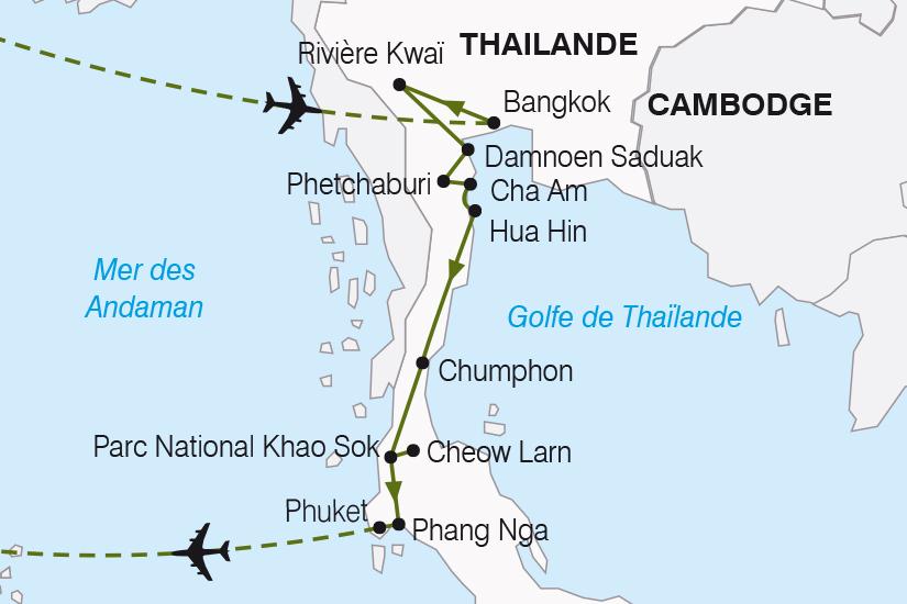 carte Thailande Thailande du Sud et Phuket SH19 20_319 152993