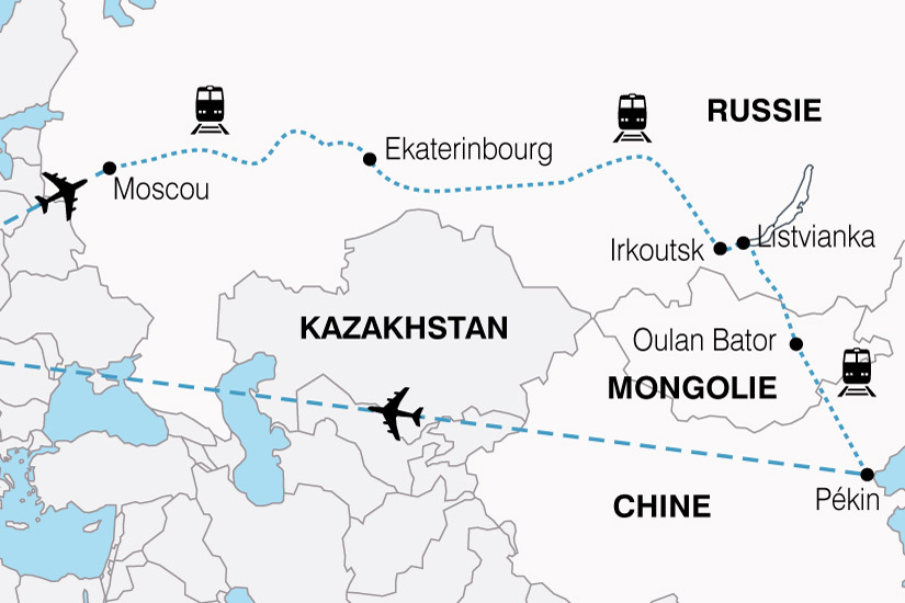 carte Transsiberien Russie Mongolie Chine 168786