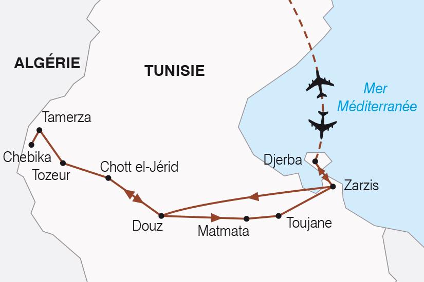 carte Tunisie Balade Tunisienne SH19 20_319 189404