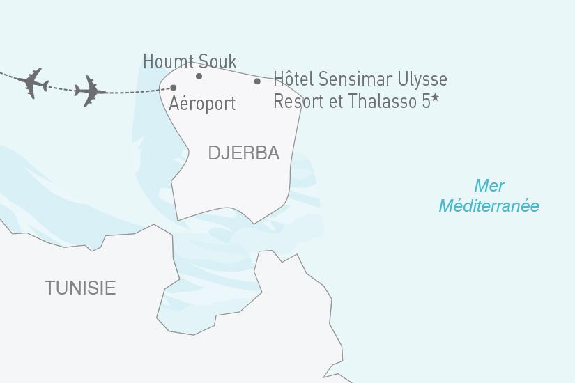 carte Tunisie Djerba Hotel Sensimar Ulysse Resort et Thalasso 5 NT19 20_314 712619