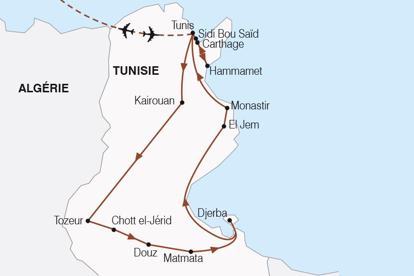 carte Tunisie L Essentiel de la Tunisie SH20_339 238599
