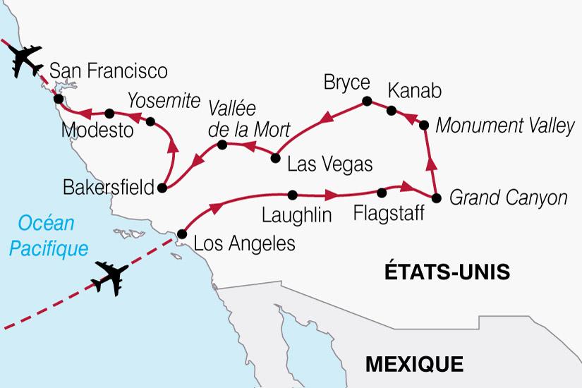 carte USA Merveilles Ouest 467768