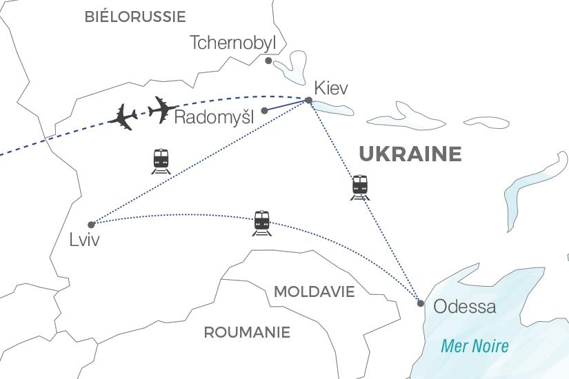 carte Ukraine Les tresors de l Ukraine Pouchkine Tours 19_286 724477
