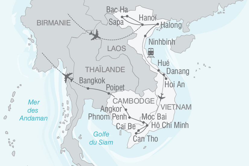 carte Vietnam Cambodge A la rencontre des Minorites Ethniques nt 2018_261 700456