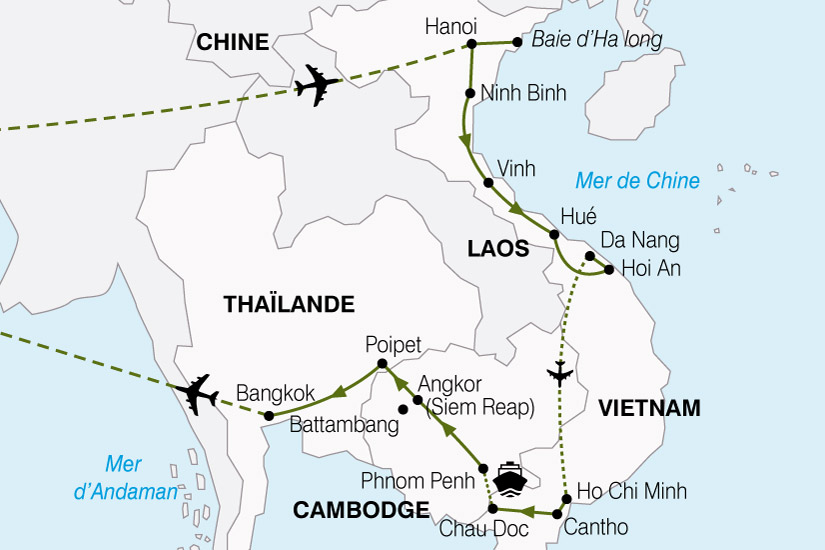 (Map) carte Vietnam Cambodge Richesses Mekong