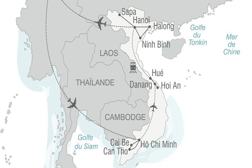 carte vietnam deltadumekong baiehalong 570277