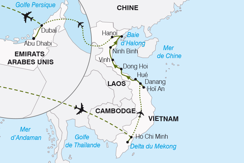 carte Vietnam Emirats Arabes Unis Vietnam Dubai Abu Dhabi SH20_339 763330