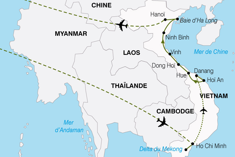 carte Vietnam Escapade 291252