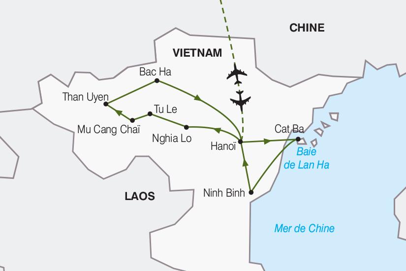carte Vietnam Immersion au coeur des minorites ethniques 2019_292 421188