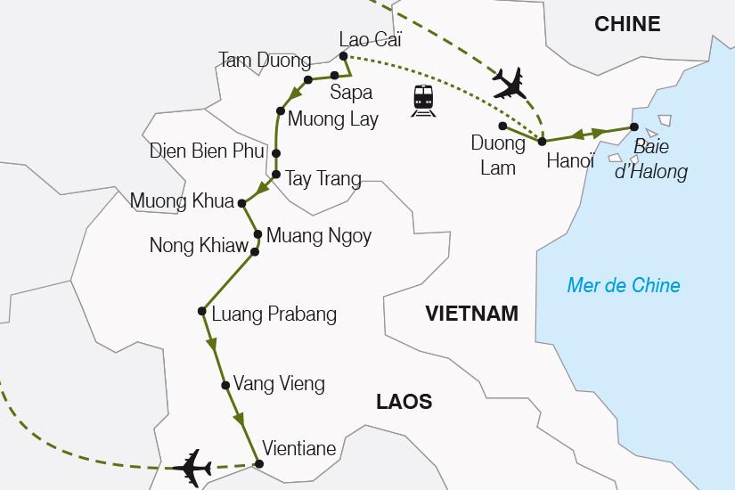 carte Vietnam Laos Merveilles d Indochine du Tonkin au Laos SH20_339 210355