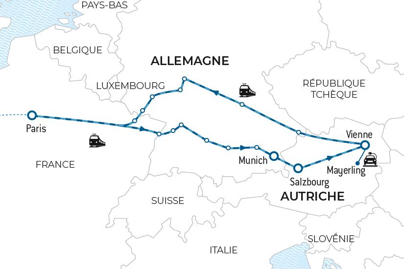 carte Voyage en train Baviere et Autriche Salaun bas carbone 20_338 355601