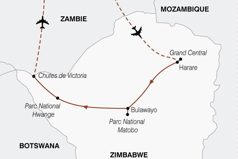 carte Zimbabwe Authentique 450431
