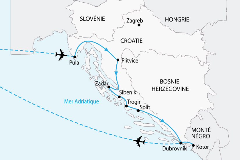 Image Croatie Sibenik Vue Aerienne Fo Carte Grand Tour Sh 2018 236 361644