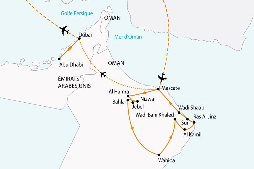 (Map) carte emirats oman charmes orient sh 2018_236