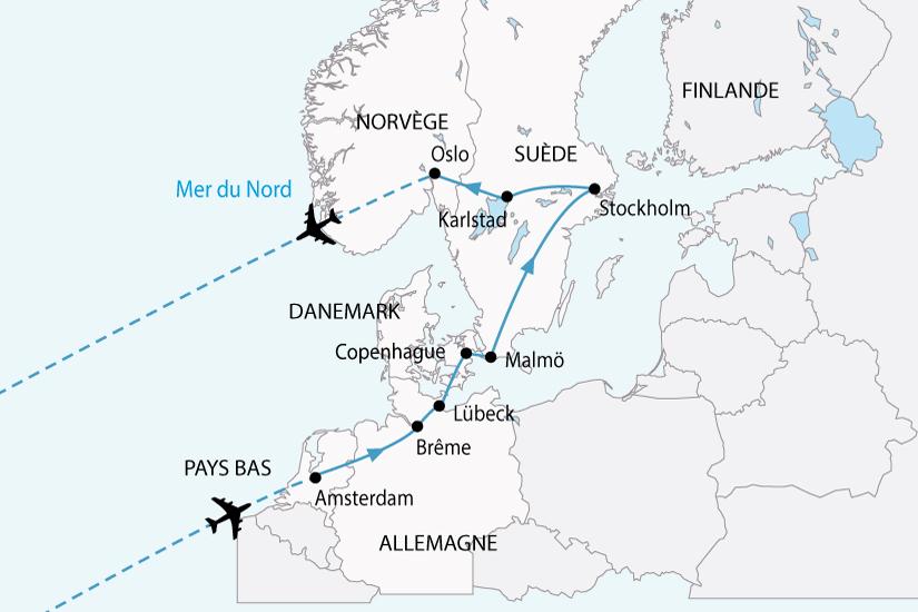 Circuit Allemagne Danemark Norvege Pays Bas Suede