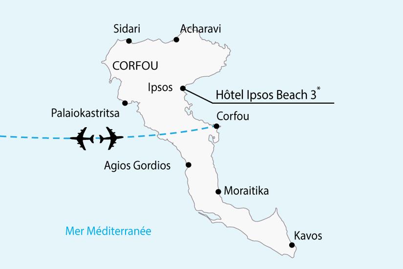carte grece corfou hotel ipsos beach sh 2018_236 861654