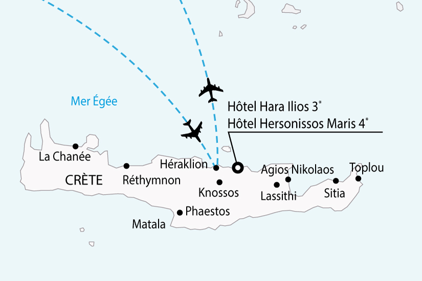 carte grece crete hotels haraIlios hersonissos sh 2018_236 734637