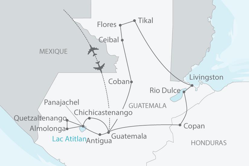 carte guatemala honduras splendeurs nt 2018_238 829281