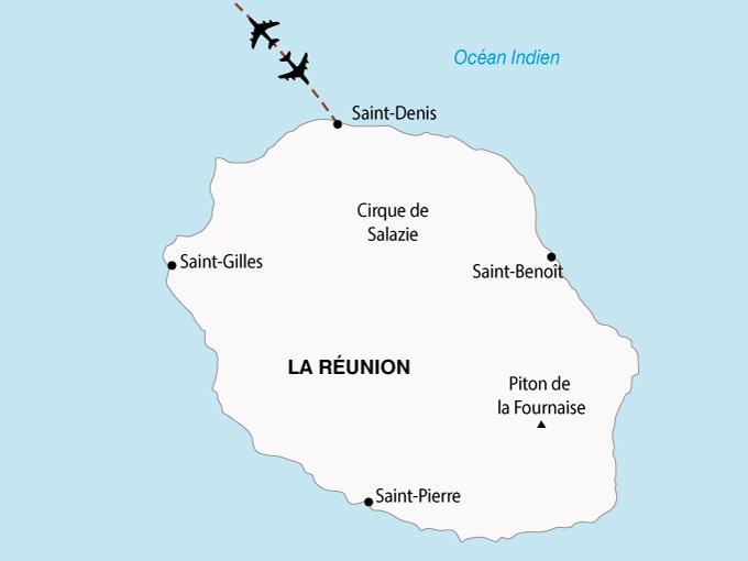 carte ile Reunion Ile Bourbon 431519