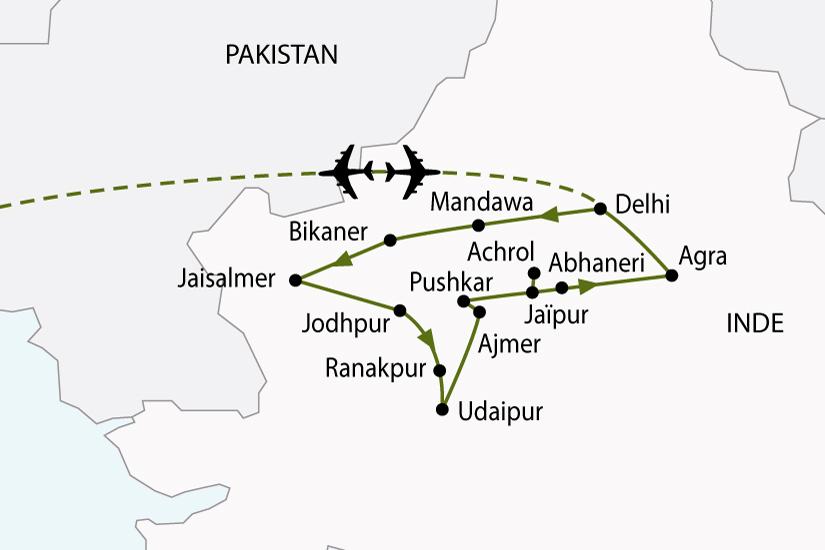 Carte Du Sud Est De Linde.Circuit En Inde L Inde Du Nord Et Le Rajasthan 14 Jours Salaun