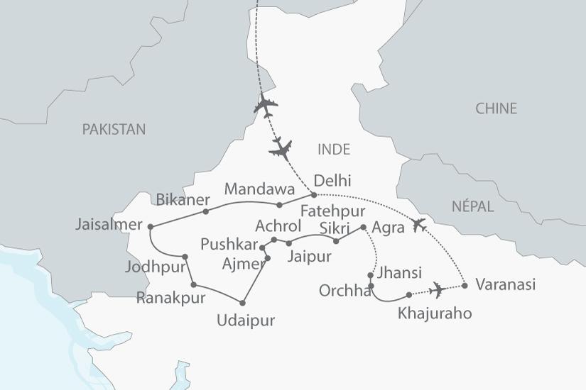 Carte De Linde Avec Le Gange.Circuit En Inde L Inde Du Nord Et La Vallee Du Gange 18 Jours