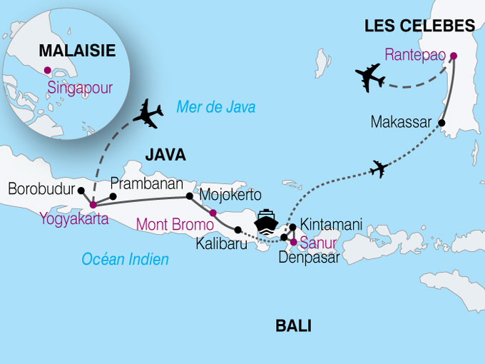 Voyage Indonesie Carte Java Bali Celebes Nthiver 224204