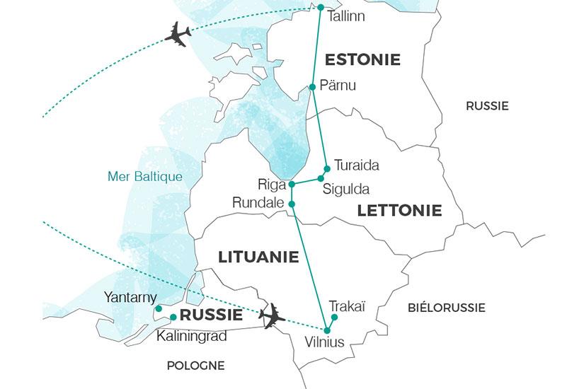 carte lituanie Perles de la baltique 235 416882