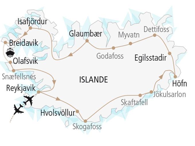 carte nordiska scandinavie circuit  Grand Tour Islande 616977