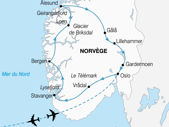 carte norvege grand tour fjords 394631