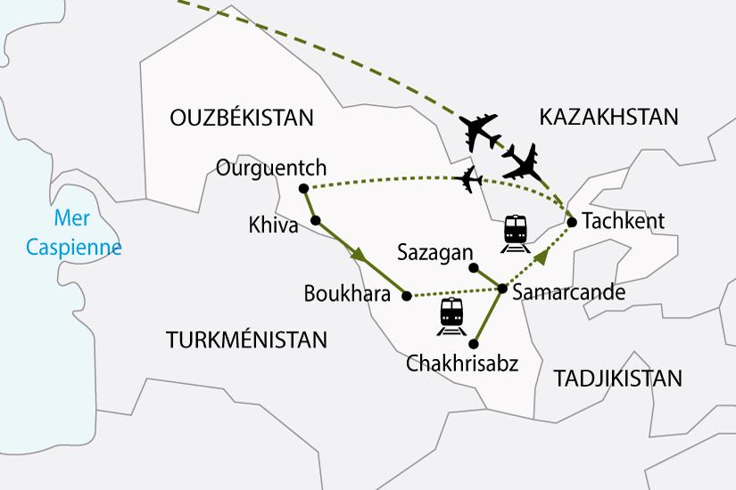 carte ouzbekistan route soie sh 2018_236 189797