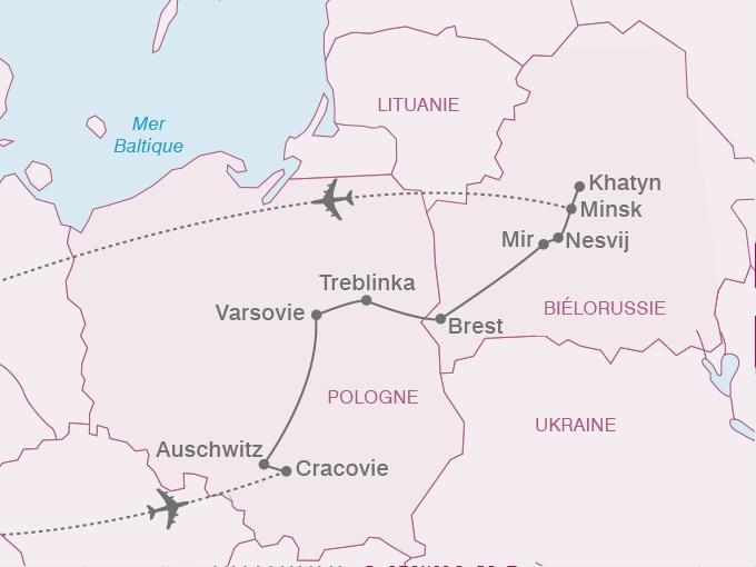 carte pouchkine hiver Europe Centrale Pologne Bielorussie 725437