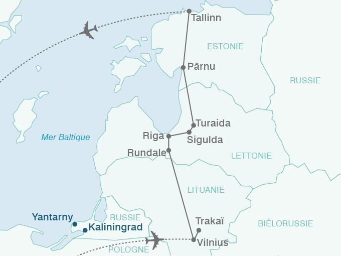 carte pouchkine hiver Mer Baltique Perles Baltique 518383