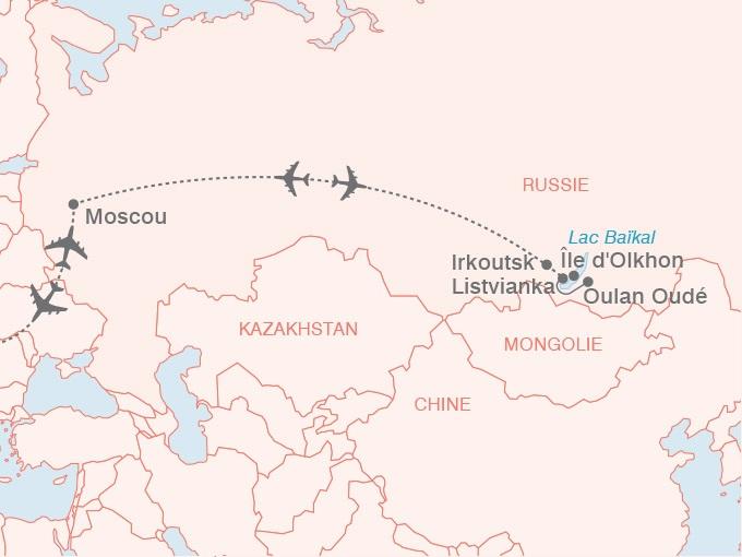 carte pouchkine hiver Russie Merveilles lac Baikal 602731