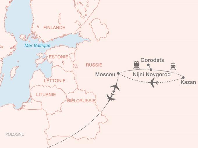 carte pouchkine hiver Russie Route Kremlins Bulbes Minaret 604034