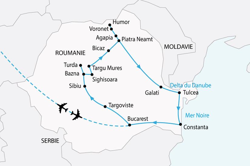 carte roumanie carpates delta danube sh 2018_236 165072